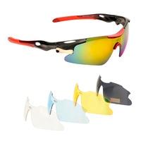 Polarized Sports Sunglasses 5 Interchangeable Lenses For Men Women UV400 Cycling Golf Fishing Baseball Running Driving