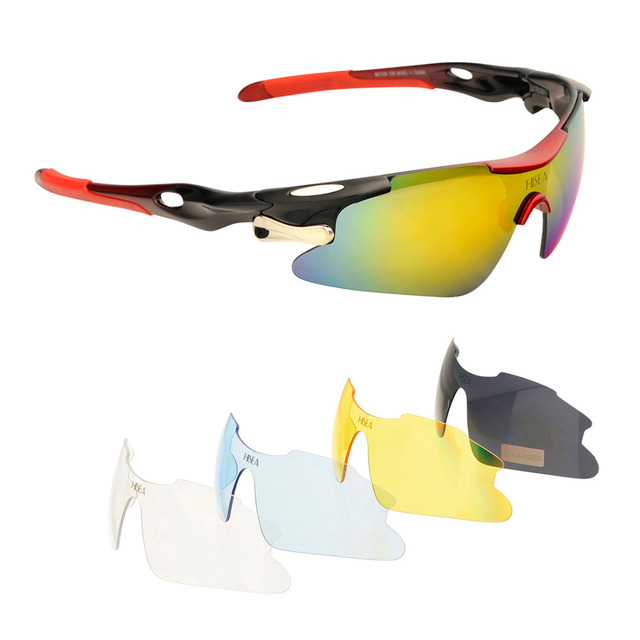 607525dd887 Polarized Sports Sunglasses + 5 Interchangeable Lenses for Men Women UV400 Cycling  Golf Fishing Baseball Running Driving Glasses