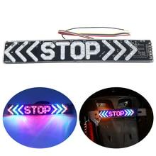 SO.K 1pc LED Motorcycle Light Flash STOP Moto Indicator Lamp Brake Turn Signal Driving Taillight 12V Universal Warning Day