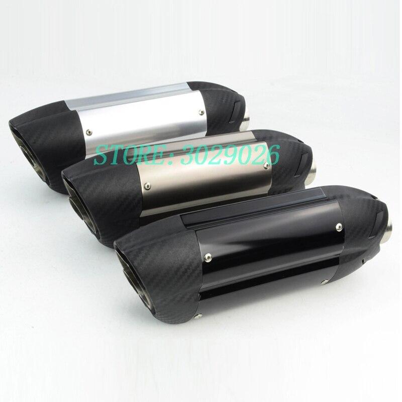 51mm Universal Exhaust Muffler Pipe For Devil Sticker Most Motorcycle Street Bike Fit Ninja 250 ER6N MT09 Z800 ZX6R ZX10R