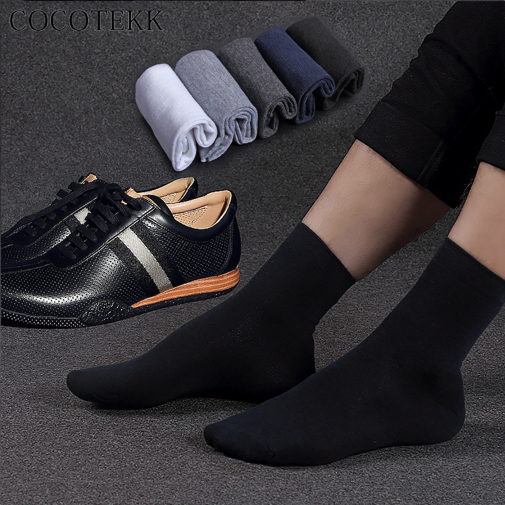 Men Socks Combed Cotton Bamboo Fiber Classic Business Socks Men Deodorant Dress Men Socks Wedding Socks Soft Leisure Suit Gifts