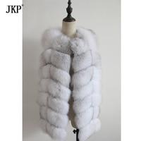 winter 100% real natural fox fur sleeveless coat women good quality fashion genuine fox fur vest