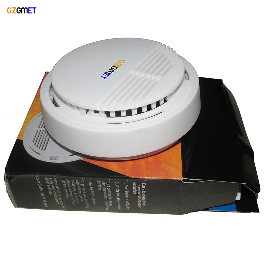 цена на GZGMET High Sensitivity Stable Smoke Detector Fire Alarm Photoelectric Sensor Home Security System with High Quality