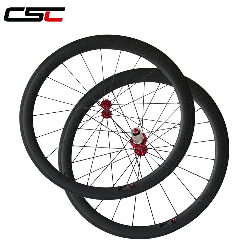 Super light Powerway R13 hub carbone roues, 23mm largeur 24/38/50/60/88mm profondeur enclume ou tubulaire carbone vélo de route roues