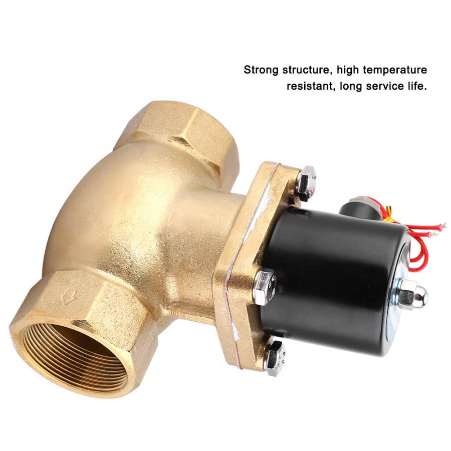 US-50 G2 Thread NC Two-Way Normally Closed Steam/Solenoid Electromagnetic Valve AC 220V Solenoid Valve