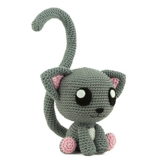 Crochet Toys  Amigurumi Rattle Catmodel  Number  W739