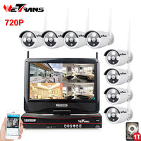 Security Camera System Wireless HD 720P 8 Channel 20m IR Night Vision Outdoor Video Surveillance Wifi