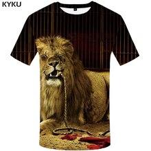 KYKU Lion Shirt Women Clothing Mechanical Big Size Funny T Shirts Circus 3d T-shirt Hip Hop Summer 2018 New