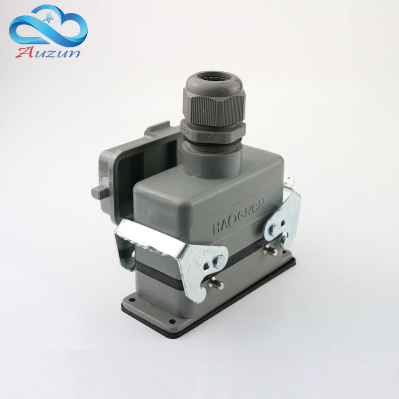 H16B - HE - 016-2 heavy duty connector base 16 core with cover on top of the line double buckle 16 a500v screw connection rockdale s002