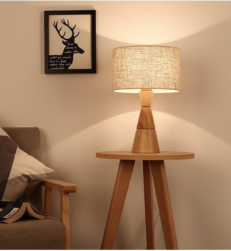 Nordic простой спальня прикроватный светильник украшения исследование современной гостиной Творческий твердой древесины глаз лампа LU8161103