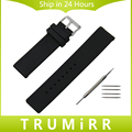 Silicone Rubber Watchband 24mm for Sony Smartwatch 2 SW2 Smart Watch Band Stainless Steel Buckle Strap Wrist Bracelet Black