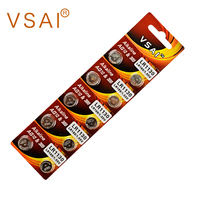 VASI 10Pcs 1.5V AG10 LR1130 389 Alkaline Button Cell Batteries For Watches