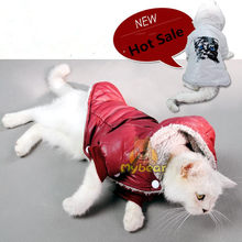 Hot Winter dog cat Pet Padded Vest Coat Puppy Warm Down coat Fleece + Polyester Jackets Clothes cat dress S-XL(China)