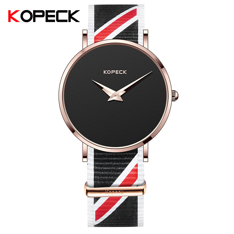 KOPECK Brand Analog Quartz Watch Men Waterproof Fashion Casual Sports Watches Man Nylon Wristwatches Relogio Masculino GB-6009GN weide popular brand new fashion digital led watch men waterproof sport watches man white dial stainless steel relogio masculino