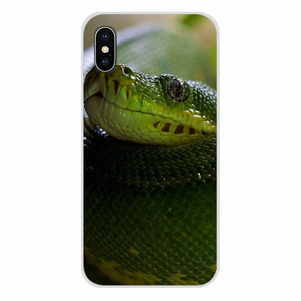 Для Samsung Galaxy S3 S4 S5 Mini S6 S7 Edge S8 S9 S10 Lite Plus Note 4 5 8 9 силиконовые чехлы розовые кожаные змеиные весы Kiu Green