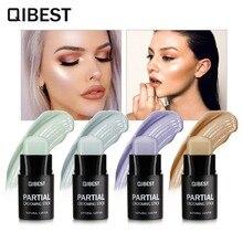 Qibest makeup set stabilo cahaya tongkat yayasan concealer concealer concealer dasar baser pensil wajah kosmetik f18009