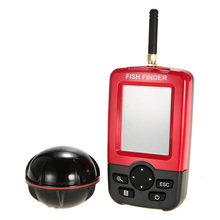 Wireless Fish Finder Portable with LED Backlight Color LCD Sonar Sensor Transducer Fishfinder Fish Alarm Depth Locator