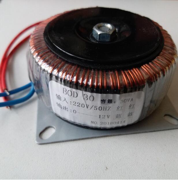 12V 2.5A Ring transformer copper 30VA 220V input custom toroidal transformer for power supply amplifier noratel toroidal seal tokon transformer double 30w 18v 30va