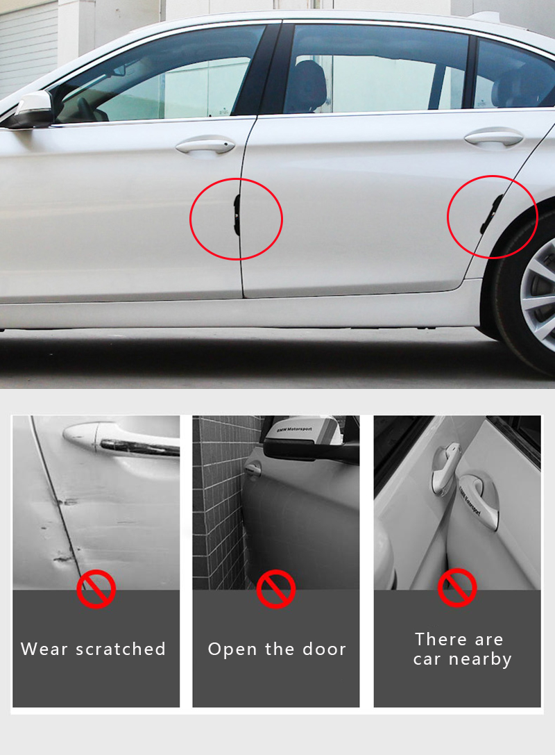 Image 5 - 4pcs Car Door Protector Side Edge Protection Guards Stickers for Renault Megane 2 3 Duster Logan Clio car styling Accessories-in Car Stickers from Automobiles & Motorcycles