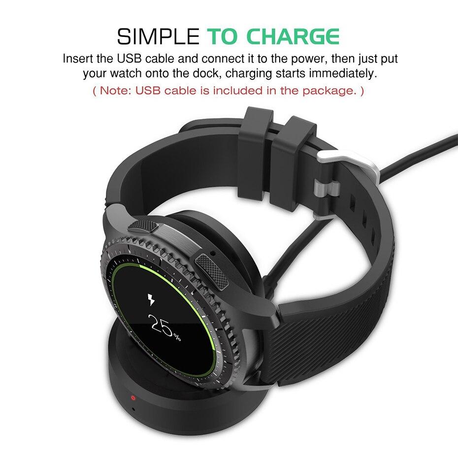 Cargadores inalámbricos Smartwatch de carga clásico frontera reloj de alta calidad coche reloj inteligente muelle de carga para el Samsung Gear S3