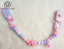 MIYOCAR Beautiful safe colorful funny beads hand made pacifier clips/chain Dummy clip/Teethers clip /pacifier holder