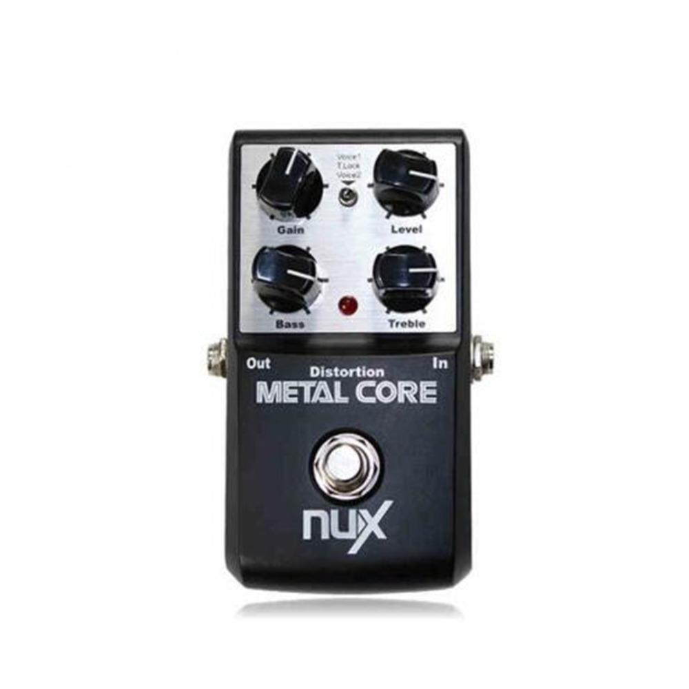 NUX METAL CORE Metal Distortion Pedal Guitar Distortion Effects Pedal Built-in Noise Gate with Tone Lock Function nux metal core distortion effect pedal true bypass guitar effects pedal built in 2 band eq tone lock preset function guitar part