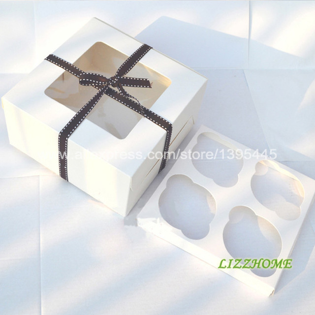 400PCSLOT White Cupcake Boxes 40 Insert Decorative Boxes For Cakes Enchanting Decorative Cupcake Boxes