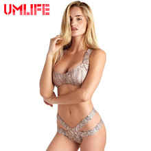 UMLIFE 6 Colors High Cut Bikinis 2017 New Sexy Bikini Swimsuit Cross Top Swimwear Women Brazilian Bikini Swimming Suit For Women