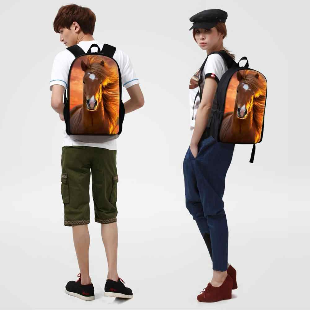 Dispalang bolso de escuela unisex mochila para la escuela secundaria de Caballo Loco huellas de viaje de la mujer mochila Mochilas Escolares Infantis