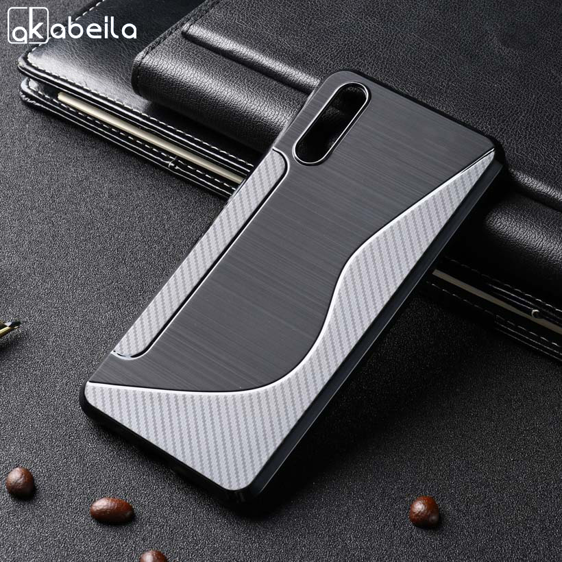 AKABEILA Soft TPU Case For Huawei P20 Case Silicone Black Cases For Huawei P20 Cover Coque Flexible Slim For Huawei P 20 5.84