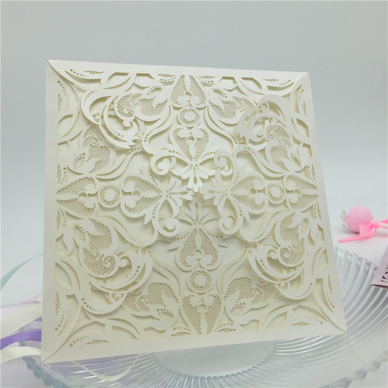 Wedding Invitations Business Cards Customized Laser Cut Lace ...