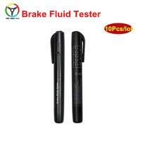 10Pcs Stable Practical Brake Fluid Tester Pen With 5 LED Display Vehicle Auto Automotive Testing Tool