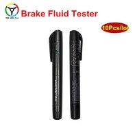10 Stks Stabiele Praktische Remvloeistof Tester Pen Met 5 LED Display Voertuig Auto Automotive Testen Tool Voor Auto Diagnostische gereedschap