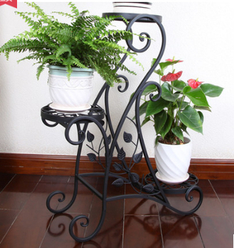 Wrought iron flower, The balcony floor, wrought iron multilayer jardiniere