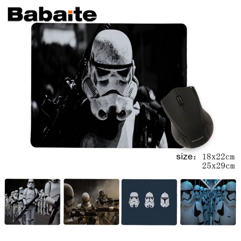 Babaite New Printed Storm Trooper Starwars Beautiful Anime Mouse Mat DIY Design Pattern Game No Lockedge mousepad image