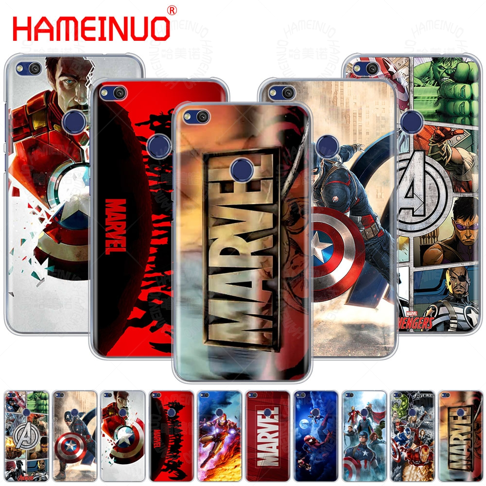 HAMEINUO <font><b>Marvel</b></font> Superheroes <font><b>Cover</b></font> phone Case for <font><b>huawei</b></font> Ascend P7 P8 P9 <font><b>P10</b></font> P20 <font><b>lite</b></font> plus pro G9 G8 G7 2017 image