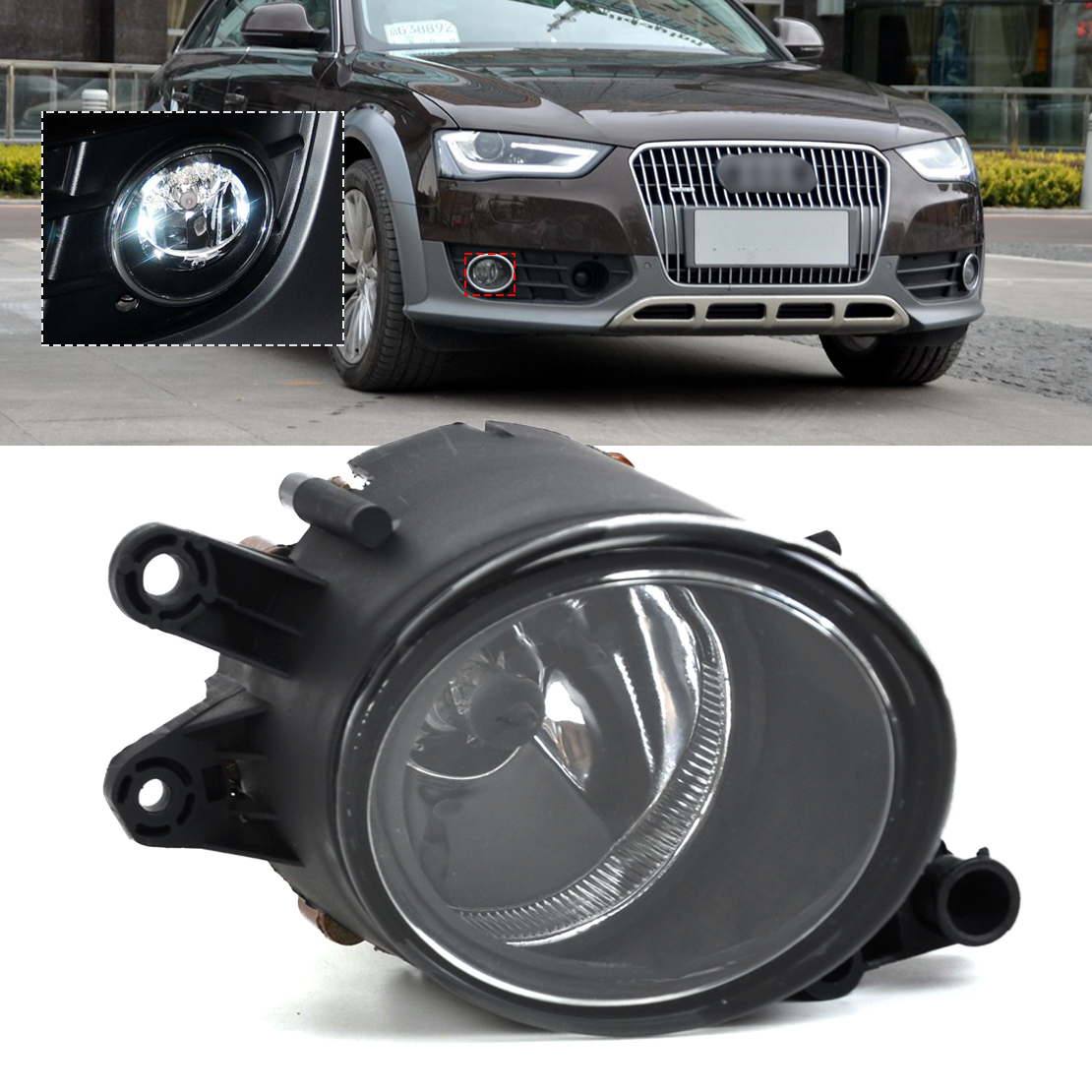 DWCX 8E0941700B Front Right Fog Light Lamp for Audi A4 B6/A4 B7/A4 Quattro 2001 2002 2003 2004 2005 2006 2007 2008 for vw golf 5 2004 2005 2006 2007 2008 2009 right side high quality 9 led front fog lamp fog light