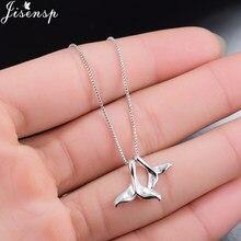 Jisensp nowy projekt zwierząt moda wieloryb ogon naszyjnik dla kobiet prezent podwójne syrenka ogony łańcuch kołnierz naszyjniki biżuteria