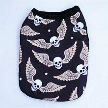 Dog T Shirt Skull Printed Vest Skull Wings