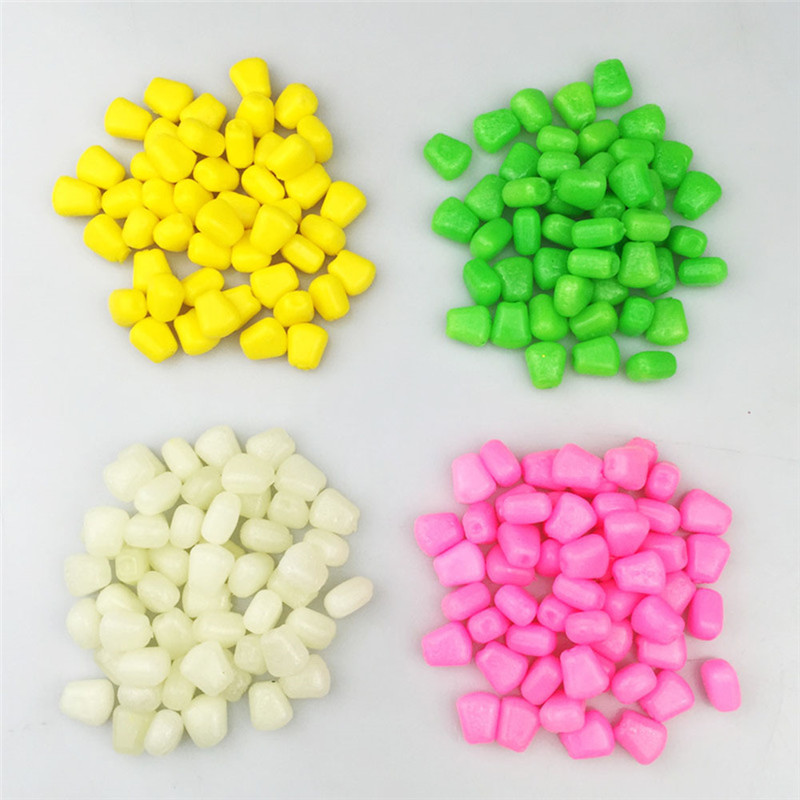 50Pcs/lot Soft Plastic Multicolor Practical Artificial Pop Up Fake Soft Lures Corn Fishing Bait Carp Fresh Water Fishing Tool