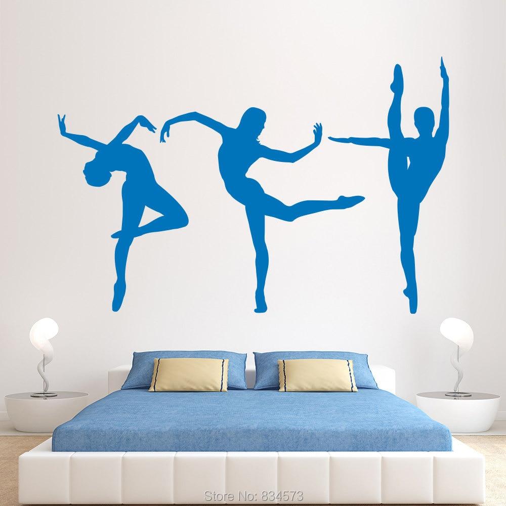 Bailarina de la pared mural compra lotes baratos de for Stickers pared baratos