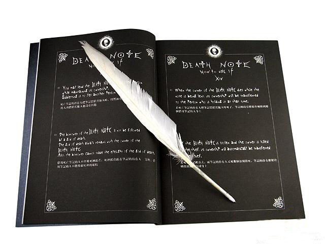 7 sets/lot Death Note notebook feather pen set Collectors edition cosplay free shipping