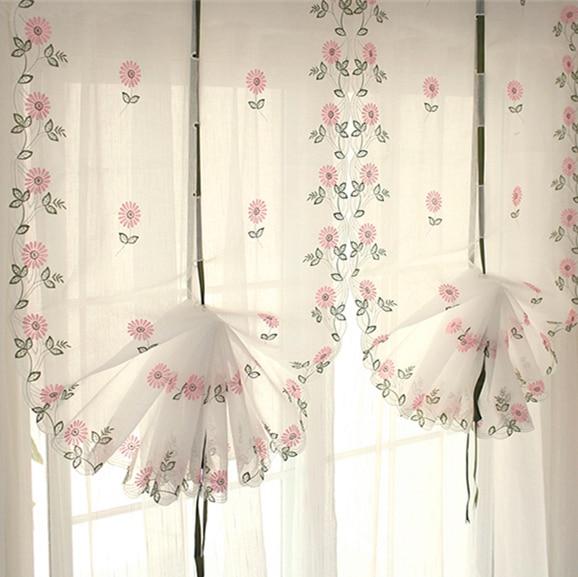 tienda online tul cortina elevacin para ventana persianas romanas bordado cortinas para puertas para sala de estar cocina sheer cutains hermosa pantalla