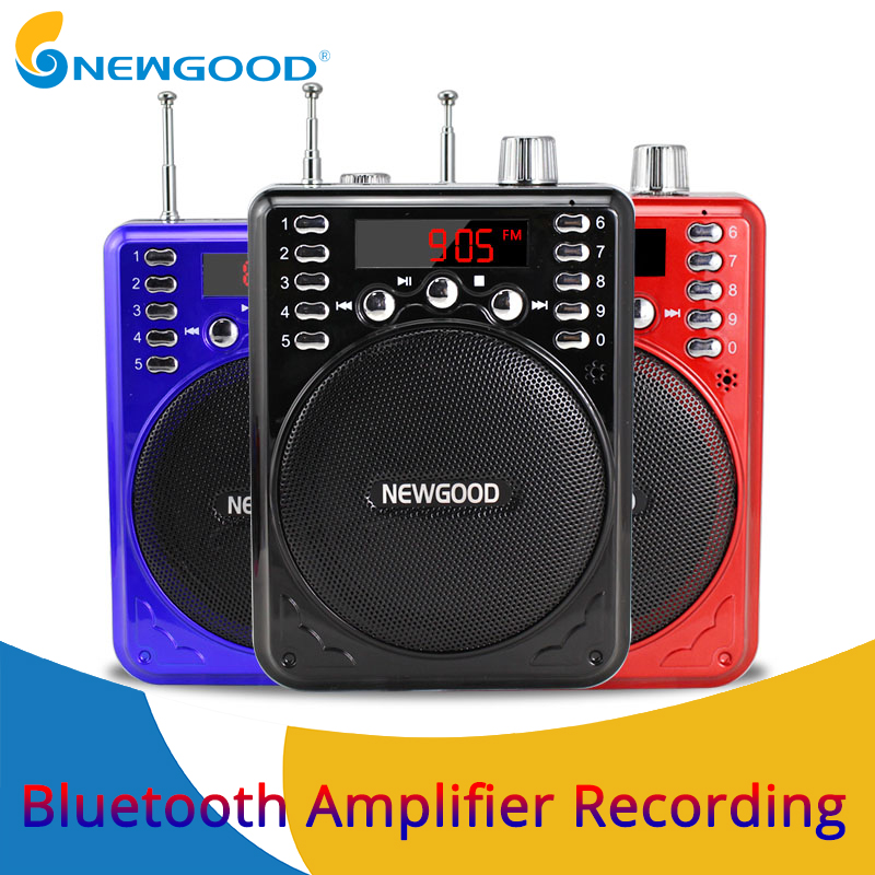 Bluetooth Portable Voice amplifier Speaker Wireless Microphone Megaphone Booster Loudspeaker TF USB disk recording MP3 player fashion wireless bluetooth speaker portable audio amplifier near field communication with mobile power party usb 3 5mm mp3