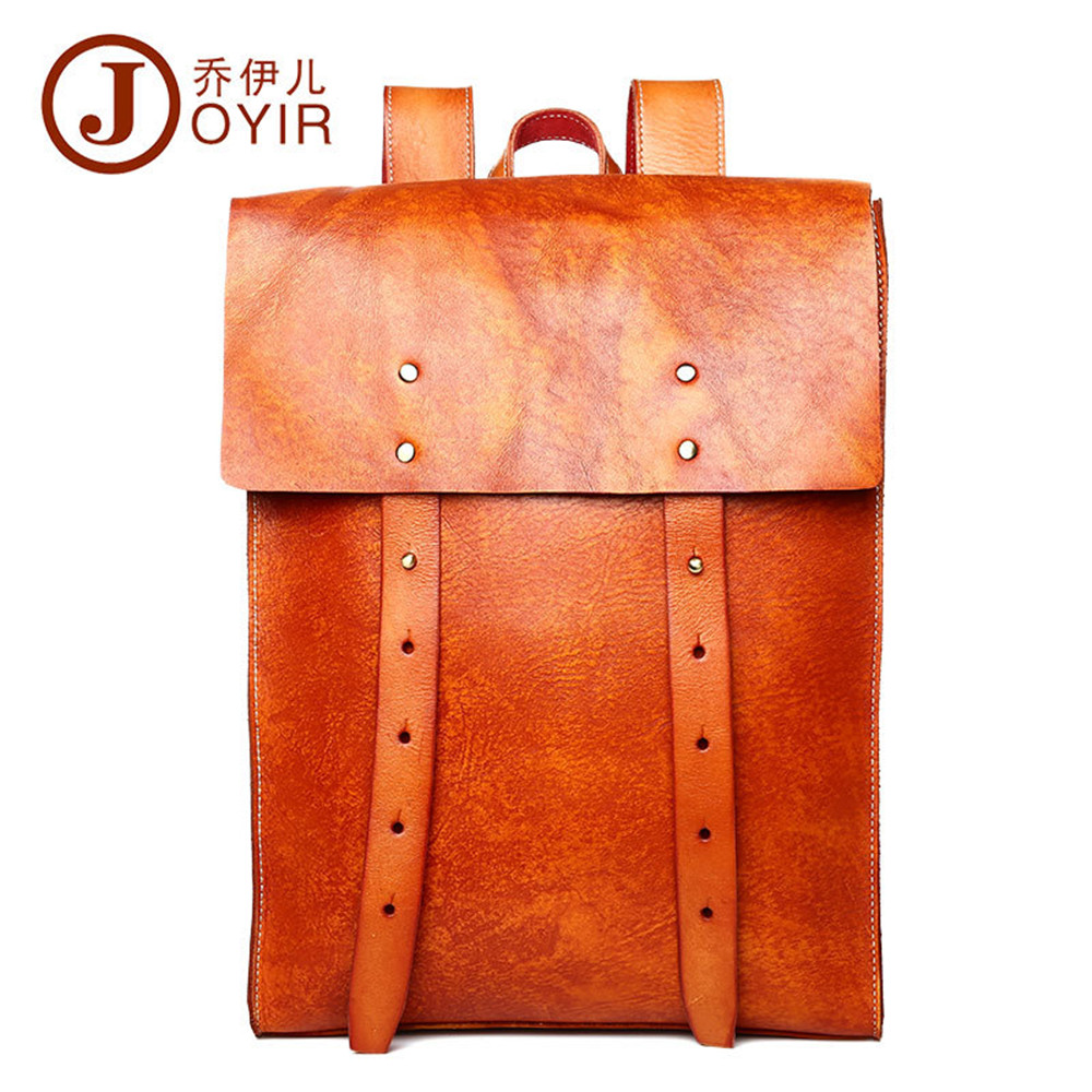 High Quality Genuine leather backpack fashion Vintage Style travel backpack mochilas school male large laptop bags business bag цены онлайн