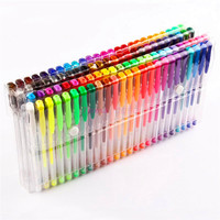 48/60/100/120 Color Gel Pen Set Refills Metallic Pastel Neon Glitter Sketch Drawing Color Pen School Stationery Marker for Kids