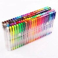 48 Gel Pens Set Color Gel Pens Glitter Metallic Pens Good Gift For Coloring Kids Sketching