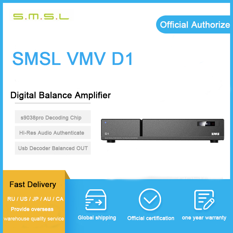 SMSL VMV D1 usb dac audio amplifier es9038 pro xmos usb hifi music player audio usb decoder dsd digital Balanced decoder amp s m s l smsl t1 dac tube headphone amplifier preamplifier hifi exquis dsd 512 384khz xmos usb decoder pre amp earphone amp