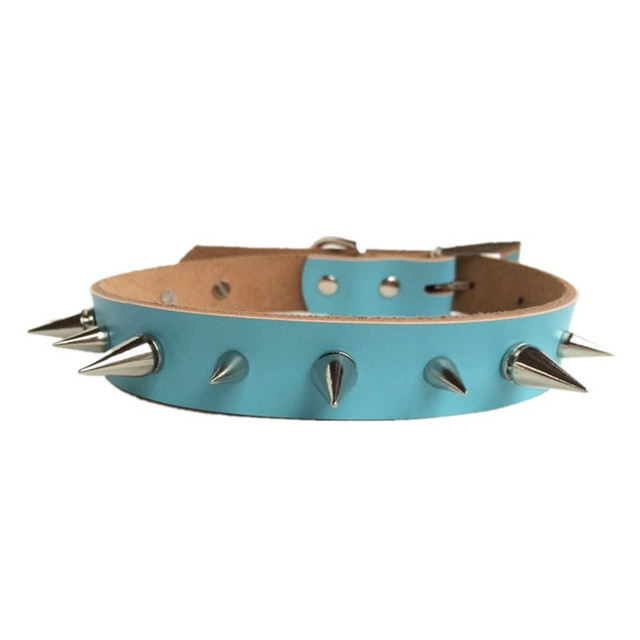 Pure Cowhide Small Dogs Collars Spiked Chihuahua Puppy Supplies Necklace For Pets Product Collar Cat Accessories guinzaglio cane