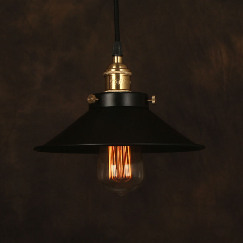 Vintage Pendant Light Industrial Edison Lamp American Style Iron Lampshade RH Loft Coffee Bar Restaurant Kitchen Lights 3pcs/lot vintage edison chandelier rusty lampshade american industrial retro iron pendant lights cafe bar clothing store ceiling lamp